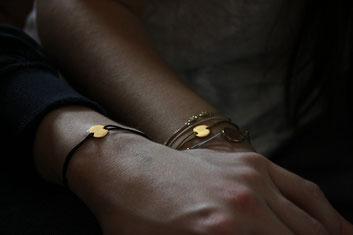 'GOLD DOT' als Pärchen Armband
