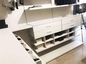 cuisine intérieur design toulouse dressing ouvert blanc rangement niches décoratives