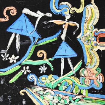 "Frenkel Vladimir, ""Aromatisch"" , Acryl auf Leinwand, 80 x 80 cm, 2004, gerahmt"