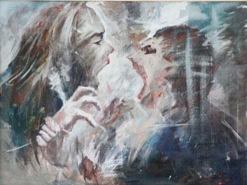 """Dolondutsky Alexandr, """"Ihr"""", Öl auf Leinwand, 60 x 80 cm, 2012, gerahmt"""