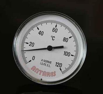 Temperaturanzeige Siebdruck