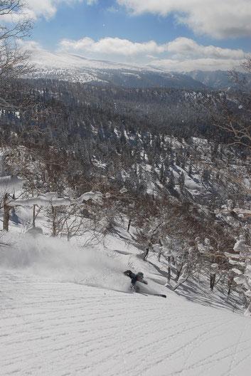backcountry ski trip in Hokkaido