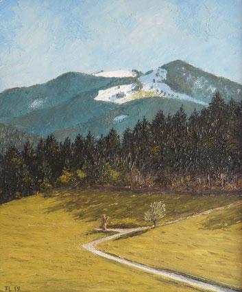 Hinterwaldkopf, Südschwarzwald (Öl auf Leinwand, 25 x 30 cm, verkauft)