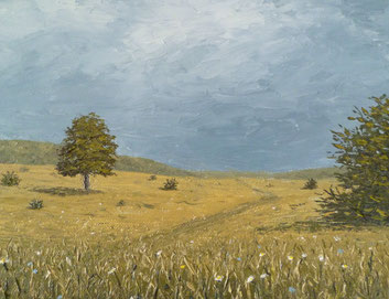Bei Gruorn II (Öl auf Leinwand auf MDF, 16 x 21 cm)