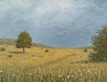 Bei Gruorn II (Öl auf Leinwand auf MDF, 16 x 21 cm, verkauft)
