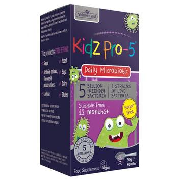 Scatola di probiotici Pro-5 Kidz, blu e viola