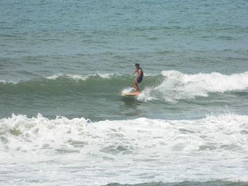 今日も波有ります。今日は昼からも風の影響も無く一日遊べたみたいです。