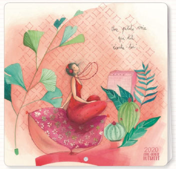 2019 calendar illustrated by par Anne-Sophie RUTSAERT - 30 x 30 cm