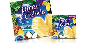 Pina Colada/Eisverpackung
