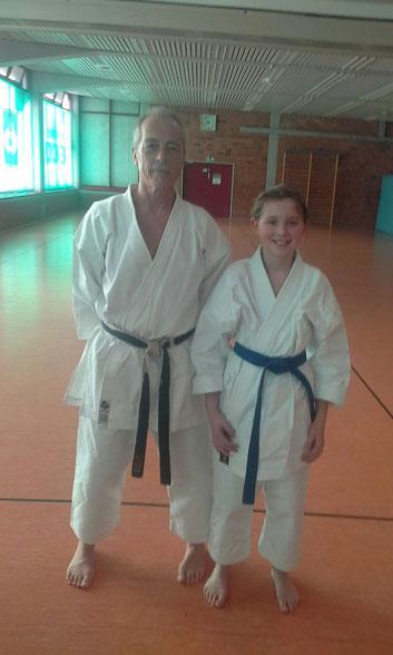 Landestrainer Detlef Herbst mit Louisa