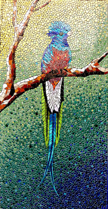 LE QUETZAL  (disponible)  130x60cm
