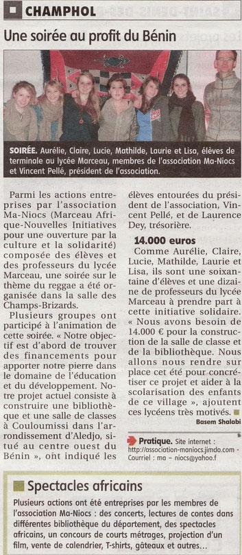 Article paru dans L'Echo le 29 janvier 2013