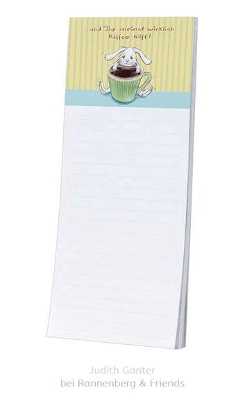 ... und Du meinst wirklich Kaffee hilft? Hase im Kaffee - Text & Illustration Judith Ganter - Verlag Rannenberg & Friends - Geschenke kaufen, Mitbringsel, Kühlschrankblöckchen