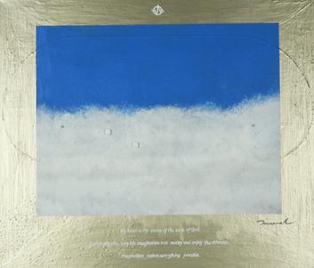 HEAVENLY WORLD 2   530mm*455mm   F10   2021 acrylic on canvas, wood
