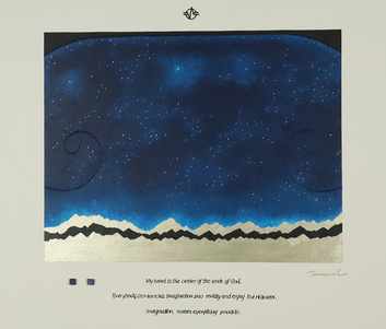 STARRY SKIES 1   530mm*455mm   F10   2021 acrylic on canvas, wood