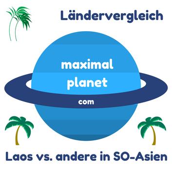 Ländervergleich Laos mit Thailand, Malediven, Sri Lanka, Indonesien