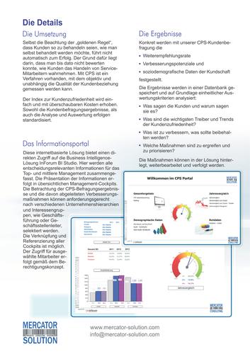 Erfolgsgeschichte vom Einsatz einer Software bei einem Kunden - zweiseitiger Flyer