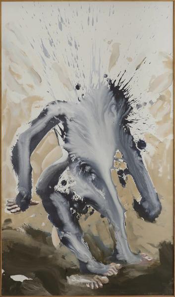 """""""Außer sich"""" - Acryl auf Leinwand, 2007 (120x70)"""