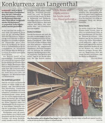 Berner Zeitung vom 21. Januar 2016