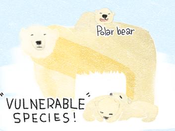絶滅危惧種を紹介するイラスト企画もスタート