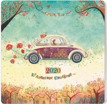 2020 calendar illustrated by Jehanne WEYMAN - 30 x 30 cm