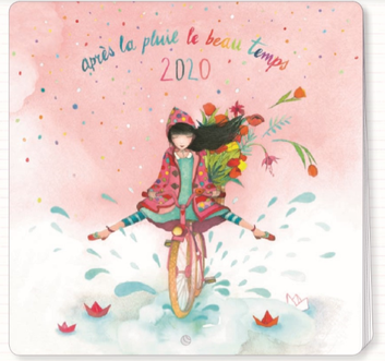 2020 calendar illustrated by Mila - 30 x 30 cm