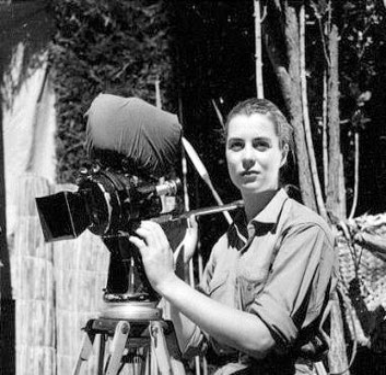 Monika som kamera-assistent i Bolivia