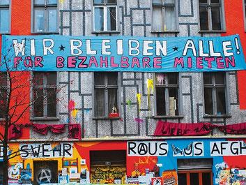 Beboermodstand imod gentrificeringen af  Berlin