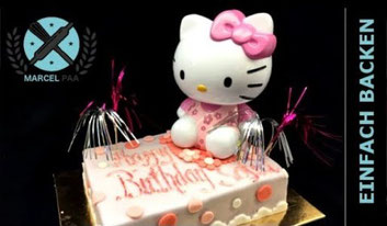 Hello Kitty Torte mit Spardose