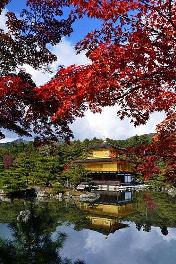 Kinkaku-ji Buddhist Temple in autumn.