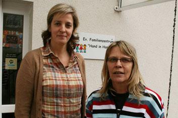 mit Astrid Schröder, Leiterin des Familienzentrums