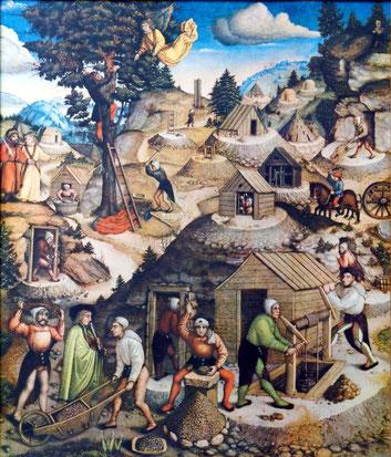 Ausschnitt vom Bergaltar der St. Annenkirche in Annaberg