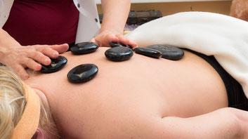 Hot Stone Massage Kosmetik Wellness im ERGOMAR Ergolding Kreis landshut