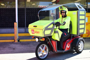 "Australian ""posties"" use electric delivery vehicles  -  company courtesy"