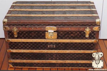 malle louis vuitton damier courrier des voyages saint ouen