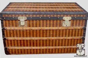 trunk restored for a flea merchant of saint ouen louis vuitton striped