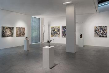 """Blick in die Ausstellung """"Max Beckmann auf der SPUR"""" im Museum Lothar Fischer. Foto: Andreas Pauly."""