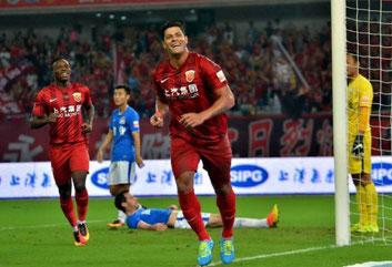 Il primo Goal di Hulk con la maglia dello Shanghai Shanggang