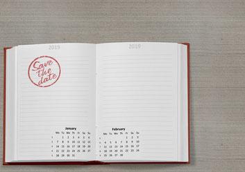 Save the Date für die Hochzeitsfeier aussenden!