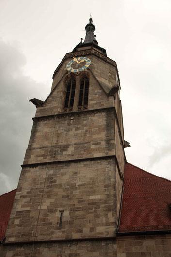 Die Stiftskirche in Tübingen, Bild: Lisa Blum.
