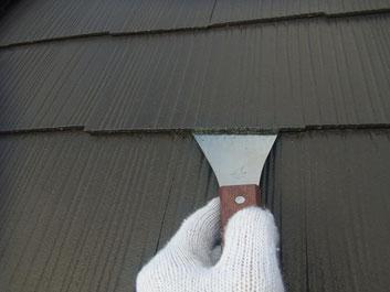 屋根の塗替え 上塗り