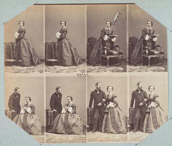 """carte de visite, albumen prints from 1850s- 1860s, collection of Metropolitan Museum of Art, """"www.metmuseum.org,"""""""