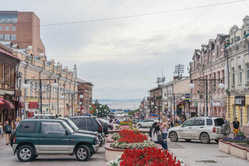 Vladivostok-Streets with Asian and European influence