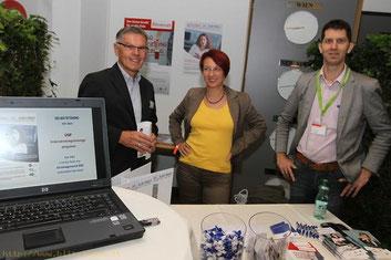 vlnr: Stefan Oberguggenberger (UGP), Carmen Hernler-Ogris (AMS), Reinhard Huber