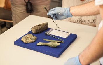 Funde aus der Umgebung werden im Museumsdepot Burg Golling bestaunt.
