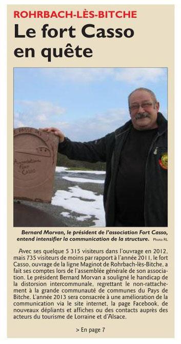 Article du Républicain Lorrain du 21/02/2013