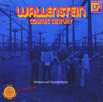 Vinyl-Album Wallenstein-Cosmic Century (1973) in Quadro