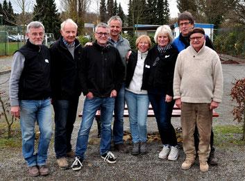 vl: Alexander (C), Heinrich, Ralf, Jürgen D., Adi, Benita, Jürgen G., Uwe, (es fehlt Rolf)
