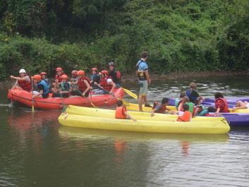 canoe kayak rafting en eau vive picquigny Somme Picardie