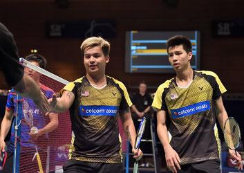 Die morgigen Finalgegner Ong und Teo aus Malaysia (Bild: Bernd Bauer)